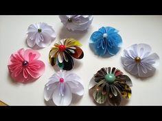 Kusudama flor de papel para decoração de diversos artesanatos passo a passo - YouTube
