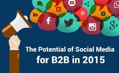 Social media is a place where business-to-business (B2B) can benefit, and the social media benefits for B2B marketers in 2015 can be huge when you look at the statistics.