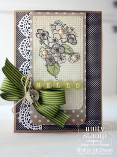 {lovely day} stamp of the week from unity stamp company - card created by Unity Design Team Member Shellye McDaniel