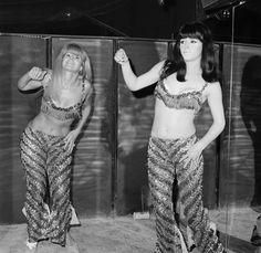 Go Go Dancers dance at Whiskey A Go Go a Los Angeles night club in Los Angeles,California, circa 1966