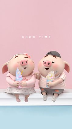 Cute Baby Pigs, Cute Piglets, Pig Wallpaper, Funny Phone Wallpaper, This Little Piggy, Little Pigs, Kawaii Pig, 3d Art, Pig Illustration