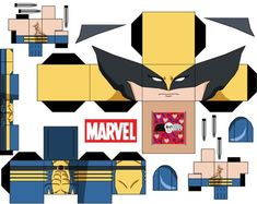 Wolverine by on deviantART Cardboard Toys, Paper Toys, Paper Crafts, Avengers Crafts, Wolverine Art, Papercraft Download, Teen Library, Paper Folding, Crafty Craft