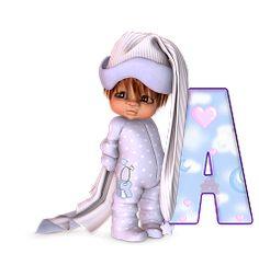 Alfabeto de nene yéndose a dormir. | Oh my Alfabetos!