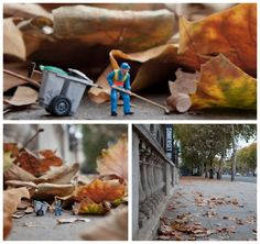 little people- a tiny street art project by Slinkachu