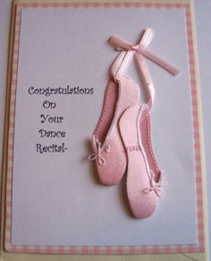 Dance Recital Card With 3D Ballet by sentimentsbydesign1 on Etsy, $4.00