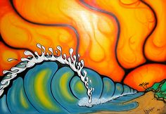 Wave Drawing, African Artists, Windsurfing, Surf Art, Beach Art, Zentangles, Beaches, Modern Art, Tattoo Ideas