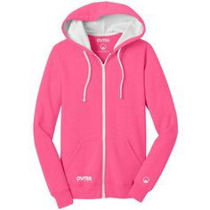 Outer Style Electric Pink Statement Zip-Up Hoodie (221945 PYG) ❤ liked on Polyvore featuring tops, hoodies, plus size, womens plus size hoodies, plus size tops, pink zip up hoodie, lightweight hoodie and plus size zip up hoodie