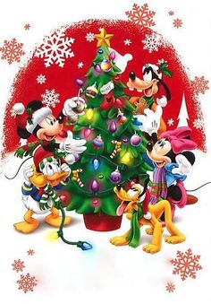 Christmas - Disney - Mickey & Minnie Mouse & Friends