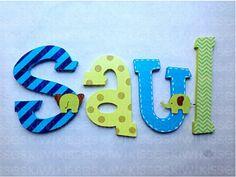 Wood decor letters / Letras de madera para decorar ! http://on.fb.me/1hoS0Sr