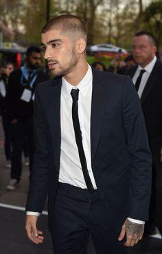 Zayn Malik at the Asian Awards with a shaved head  - Sugarscape.com