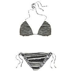 Reversible crochet-knit triangle bikini Missoni Bikini - Shop Online