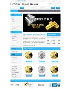 Trading Website Design http://preciousmetalstrading.us/