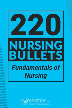 The ultimate reviewer for Fundamentals of Nursing! This compilation of nursing bullets comes with 220 bits of information all about the Fundamentals of Nursing! Perfect for those who needs to a quick review. #nursing #nurses #nurseslabs #rn #nclex #nurse #studentnurse Read: http://nurseslabs.com/nursing-bullets-fundamentals-nursing-reviewer-1-220-items/