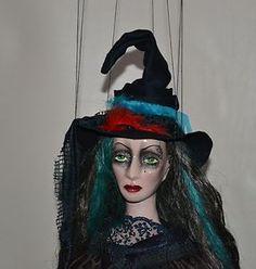 Original Czech marionette - Enchantress puppet - boudoir doll, art doll OOAK | eBay