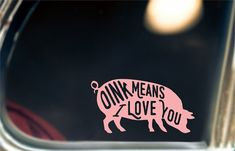 Awesome Pig Decal!