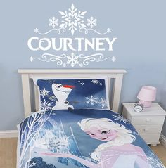 Disney Frozen inspired bedroom décor created for a client. Hand ...
