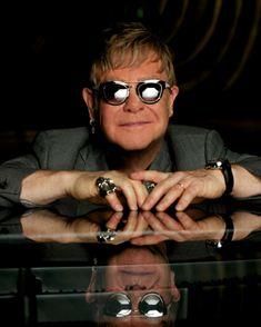 Elton John Sunglasses Elton John Sunglasses, Mens Sunglasses, Miu Miu, Singer, Fashion, Moda, Fashion Styles, Singers, Men's Sunglasses