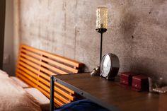 ベッドルームは戸境壁を躯体現しで。あたたかみがあるカーペットといいコントラスト。   #K様邸氷川台 #寝室 #ベッドルーム #bedroom #bedroointerier #オープンラック #ベッド #EcoDeco #エコデコ #リノベーション #renovation Lighting, Home Decor, Decoration Home, Room Decor, Lights, Home Interior Design, Lightning, Home Decoration, Interior Design
