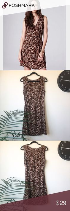 "Lucky brand leopard print Lucky brand beautiful cheetah print sleeveless dress elastic waistband bust:19"" length:36.5"" approx. please feel free to ask me any questions and check out my closet for 20%off bundles! Lucky Brand Dresses Midi"
