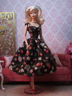 Miss Janet Rockabilly Dress in Strawberry and by Bellissimacouture