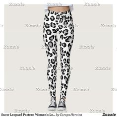 Snow Leopard Pattern Women's Leggings