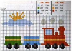Os gráficos abaixo podem ser aplicados no enxoval do bebê, em toalhinhas escolares equadrinhos para o quarto dos meninos. Vou colocar gráf...