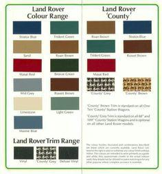 Land Rover Bronze Green Paint Code