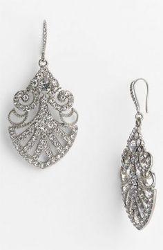 1920 s wedding theme - Filigree diamond earrings deco style.jpg