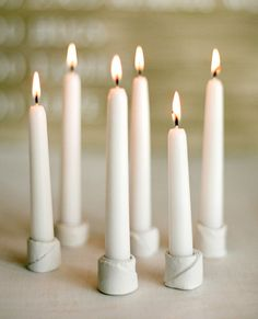 diy candle holders. Wonder if this would work with a salt dough like you would make for ornaments.