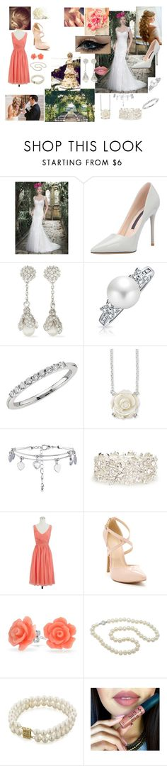 """""""Wedding of Valetnine's Day #5"""" by modefan2 on Polyvore featuring beauté, Balenciaga, Bling Jewelry, Blue Nile, Natures Jewelry, DailyLook, J.Crew et Honora"""