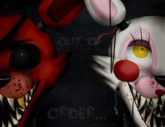 FNAF- Foxy and Mangle by Akirageni on DeviantArt