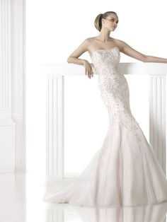 Pronovias Maddie wedding dress. From the Glamour collection