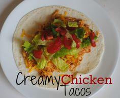 The Farm Girl Recipes: Creamy Chicken Tacos (Crockpot)