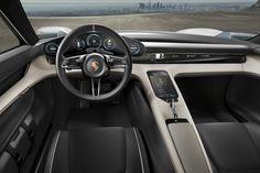 2015 Porsche Mission E concept | 2 permanent magnet synchronous motors | 600 hp / 440 kW | Driving range: 500 km