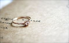 Cute, simple promise ring. I want this one as my purity ring.