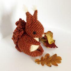 Coco The Squirrel Amigurumi Pattern by irenestrange on Etsy