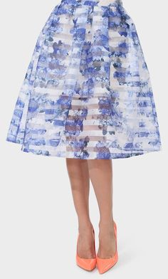 A Twist on Traditional.  Kyoto Floral Skirt