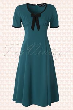 50s Alveira Dress Teal