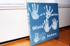 I think it would have one hand print for each family member instead of just kids. What a wonderful thing for my kids to have when we are gone.