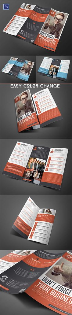 Creative brochure for all kinds of business. Most beautiful Tri-Fold, Bi-Fold brochure design templates easy to customize, print ready dpi). Graphic Design Brochure, Corporate Brochure Design, Bi Fold Brochure, Brochure Layout, Freelance Graphic Design, Graphic Design Projects, Business Brochure, Brochure Printing, Web Design