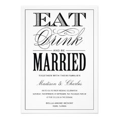 BE MARRIED | WEDDING INVITATION #wedding