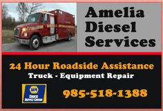 Amelia #Diesel Services122 Taylor Rd #AmeliaLA We get your big rig moving! http://ameliadieselservices.com   #24HourRoadside AmeliaLADiesel (@amelialadiesel) | Twitter