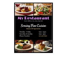 Download this New Restaurant Flyer Template and other free printables from MyScrapNook.com