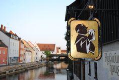 """Amberg, Bavaria, Germany. Restaurant """"Russwurmhaus"""""""