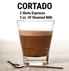 What Is A Cortado The Difference Between Cortado Vs - The Difference Between Cortado Vs Macchiato May By Tara Williams Cortado Is A Spanish Coffee That Is Made Of Espresso And Mixed With The Same Quantity Of Warm Milk To Give A Best Espresso Machine, Cappuccino Machine, Coffee Machine, Latte Art, Nitro Coffee, Discount Coffee, Coffee Varieties, Café Bar, Recipes