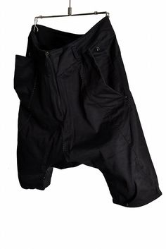 """incarnation Dobby Cotton Elastic """"OVER LOCKED"""" Sarrouel Short Trousers with Zip Pocket"""