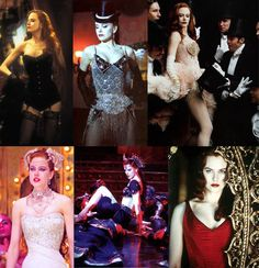 the many beautiful outfits of satine, moulin rouge
