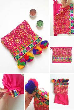 Gorgeous ethnic clutch bag tutorial. More great accessories to DIY at: http://www.sewinlove.com.au/category/accessories/