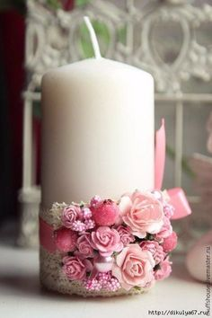 Try These Easy Decorating Tips When Working with Candles Candle Lanterns, Diy Candles, Pillar Candles, Flower Decorations, Wedding Decorations, Candle Decorations, Baptism Candle, Wedding Unity Candles, Flower Phone Wallpaper