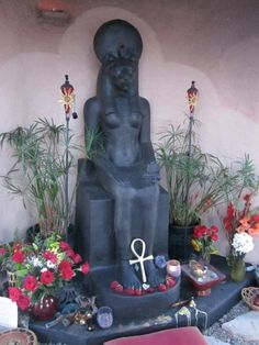 The new image of Sekhmet at the Nevada Temple of Goddess Spirituality - August 2014 http://www.sekhmettemple.com